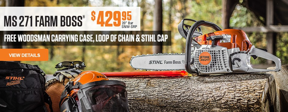 Free Woodsman Carrying Case, Chain and STIHL Cap